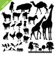 Aniaml and farm silhouette vector image vector image