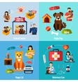Animal shelter set vector image vector image
