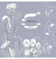 Background with Snowdrops vector image vector image