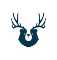 bear deer logo for branding or merchandise and t vector image