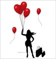 Beautiful Woman Shopping woman Woman silhouette vector image
