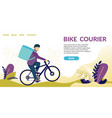bike courier demand for speed courier services vector image