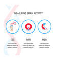 brain tests icons vector image