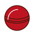 brightly red ball cartoon vector image vector image