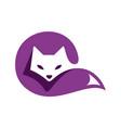 cat sleeps logo icon design vector image