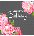 Chic Pink peonies for my birthday vector image vector image