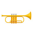 classic trumpet icon cartoon style vector image vector image