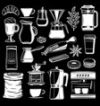 coffee maker and cafeteria icons vector image