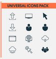 connection icons set collection of user account vector image vector image