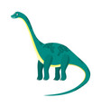 cute cartoon flat high diplodocus dinosaur vector image vector image