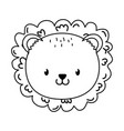 cute lion woodland character vector image