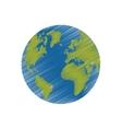 Earth world planet vector image