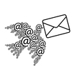 Email message vector image