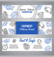 express delivery and shipment horizntal banners vector image vector image