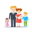 family happy people vector image vector image