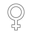 female symbol isolated icon vector image