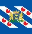 flag of friesland of netherlands vector image vector image