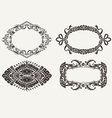 Four Oval Frames vector image vector image