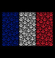 french flag collage of anchor icons vector image