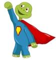 Funny Turtle Superman vector image vector image
