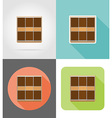 furniture flat icons 15 vector image vector image
