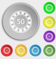 Gambling chips icon sign Symbol on eight flat vector image