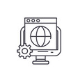 global seo line icon concept global seo vector image vector image