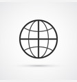 globe flat line trendy black icon eps10 vector image