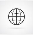 globe flat line trendy black icon eps10 vector image