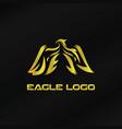gold eagle logo template vector image