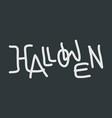 halloween text logo vector image
