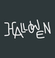 hallowen text logo vector image