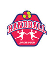 handball logo with text space for your slogan vector image vector image