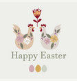 happy easter templates vector image vector image
