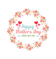 happy mother day with wreath flower vector image vector image