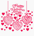 happy valentine day hand drawn background with vector image vector image