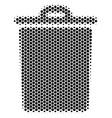 hexagon halftone trash bin icon vector image vector image