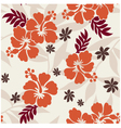 Hibiscus seamless flower pattern