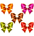Holiday bows with diamonds vector image vector image