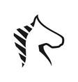 horse head chess modern logo creative concept vector image vector image