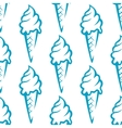 Ice cream seamless pattern vector image