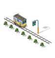 isometric tram metro urban vector image