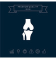 knee joint icon vector image vector image
