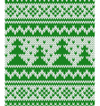 Knitted seamless pattern with fir-trees vector image vector image