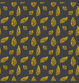 leaf brush gold seamless pattern vector image vector image