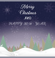 merry christmas baner night new year vector image