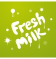 Milky texture text isolated on green background vector image
