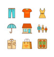 Minimal lineart clothes shopping iconset jeans