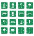 park icons set grunge vector image