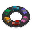 Rainbow cars vector image